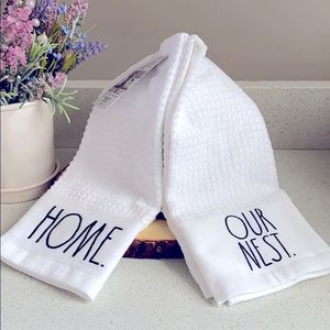 🏡RAE DUNN HOME OUR NEST EMBROIDERED KITCHEN TOWEL